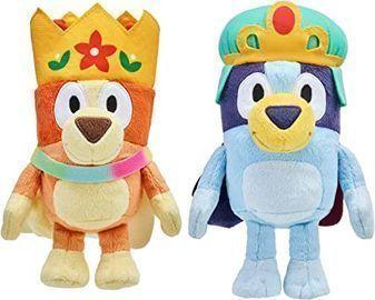 Bluey Friends: Royal Bluey & Bingo Plush Bundle