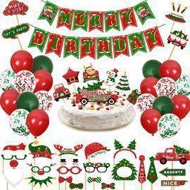 Christmas Birthday Decor Party Supplies
