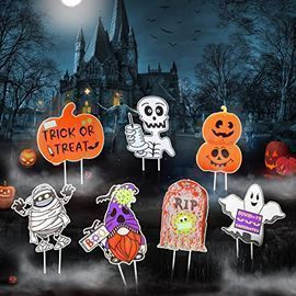 Huzisa Outdoor Halloween Yard Signs Decorations