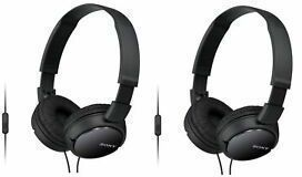 Sony MDR-ZX110AP Extra Bass Headphones (2-Pack, Refurbished)