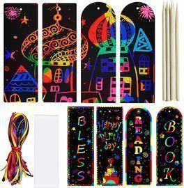 Scratch Paper Art Bookmarks
