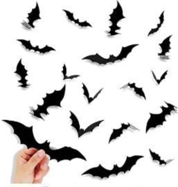 Halloween Bat Stickers - 80pk