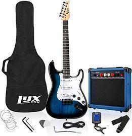 LyxPro 39 Electric Guitar Kit Bundle w/ 20w Amplifier & Accessories