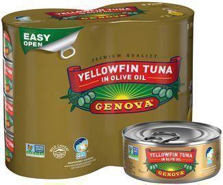 8PK Genova Premium Solid Light Yellowfin Tuna in Olive Oil