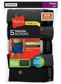 Hanes Men's ComfortSoft Knit Boxer Briefs (5 Pack)