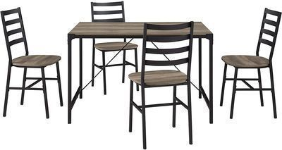 Walker Edison Person Rectangle Kitchen Table w/ Chairs