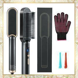 Hair Straightener Brush 2 in 1