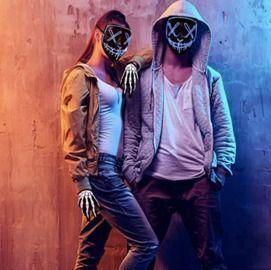 Halloween Mask LED EL Wire Light Up Mask