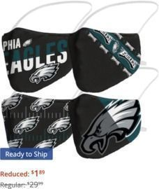 3pk NFL Adult Face Coverings