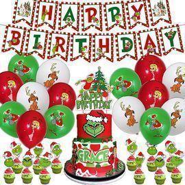 Grinch Christmas Birthday Decorations