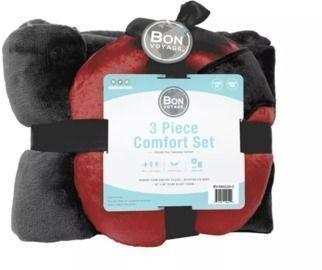 Bon Voyage 3-Piece Plush Travel Pillow Gift Set