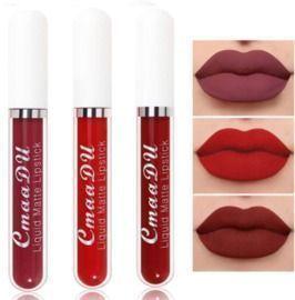 Matte Liquid Lipstick Makeup Set, 3 colors