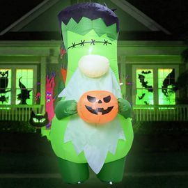 6' Inflatable Green Faceless Zombie