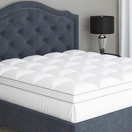Water Proof Quilted Pillow Top Mattress Topper, Queen