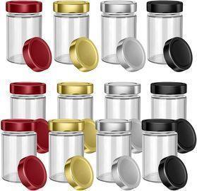 12 Sets 8oz Thick Glass Jars