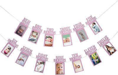 1st Birthday Baby Photo Banner