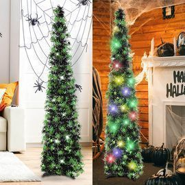 5 Foot Halloween Tree with 50 LED Lights