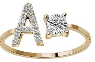 Initial Letter Alphabet Knuckle Rings
