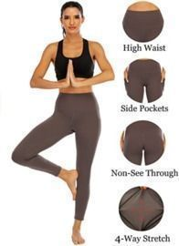 OUYISHANG Yoga Pants with Pockets for Women