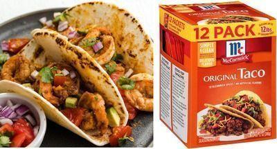 McCormick Original Taco Seasoning Mix, Pack of 12