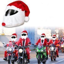 Santa Motorcycle Helmet Cover