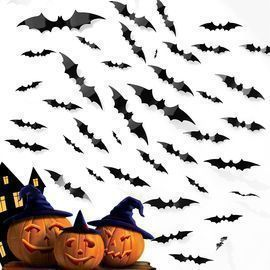 44 Pcs DIY 3D Bats Decorations