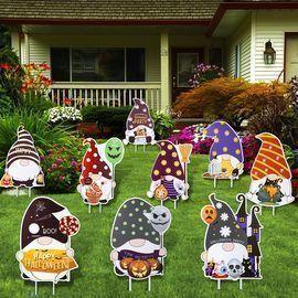 9pc Halloween Yard Signs