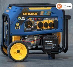 Firman 7500W Running / 9400W Peak Tri-Fuel Generator
