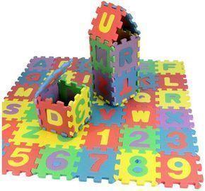 36Pcs Kids Number Alphabet Puzzle Foam Mats