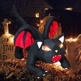 5FT Halloween Inflatable Dragon Cat