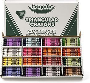 Crayola Triangular Crayon Classpack (16 Assorted Colors)