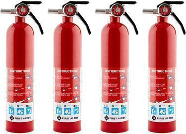 4PK First Alert HOME1 Rechargeable Home Fire Extinguishers