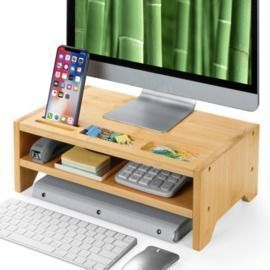 2 Tier Bamboo Monitor Stand