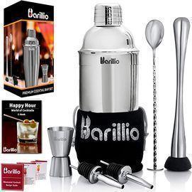 Barillio Elite Cocktail Shaker Set Bartender Kit
