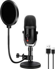 USB Condenser Microphone Recording Mic Kit with Pop Filter