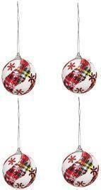 4 Pcs Christmas Tree Decoration Hanging Balls