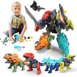 STEM Transforming Dinosaur Robot Toys