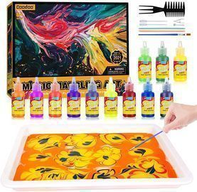 12-Color Marbling Paint Arts & Crafts Kit