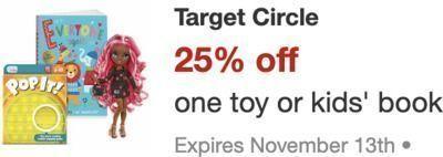 Target - Target Circle: 25% Off One Toy