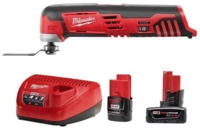 Milwaukee M12 12-Volt Lithium-Ion Cordless Oscillating Multi-Tool w/ Batteries & Charger