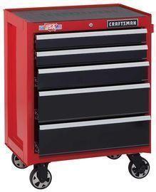 CRAFTSMAN 2000 Series 26.5 W x 34 H Five Drawer Steel Rolling Tool Cabinet