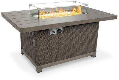 52 50,000 Btu Wicker Propane Fire Pit Table