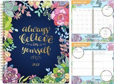 Weekly & Monthly Planner 8 x 10 January 2022 - December 2022