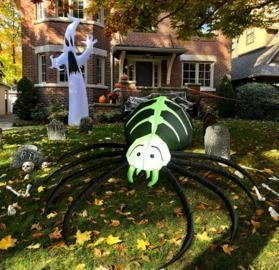 5.8 FT Inflatable Spider with Built-in LED Lights