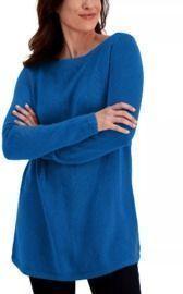 Karen Scott Solid Curved-Hem Tunic Sweater