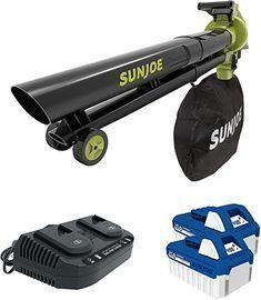 Sun Joe 48-Volt Cordless Blower w/ Batteries & Charger