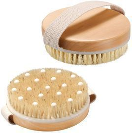 2 Pack Natural Wood Body Shower Brush