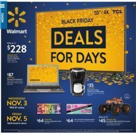 Walmart Black Friday Deals for Days Sale (Nov 3)
