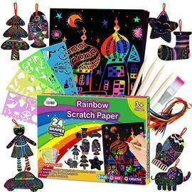 Rainbow Magic Scratch Off Art
