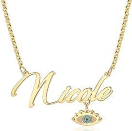 Personalized Evil Eye Necklace